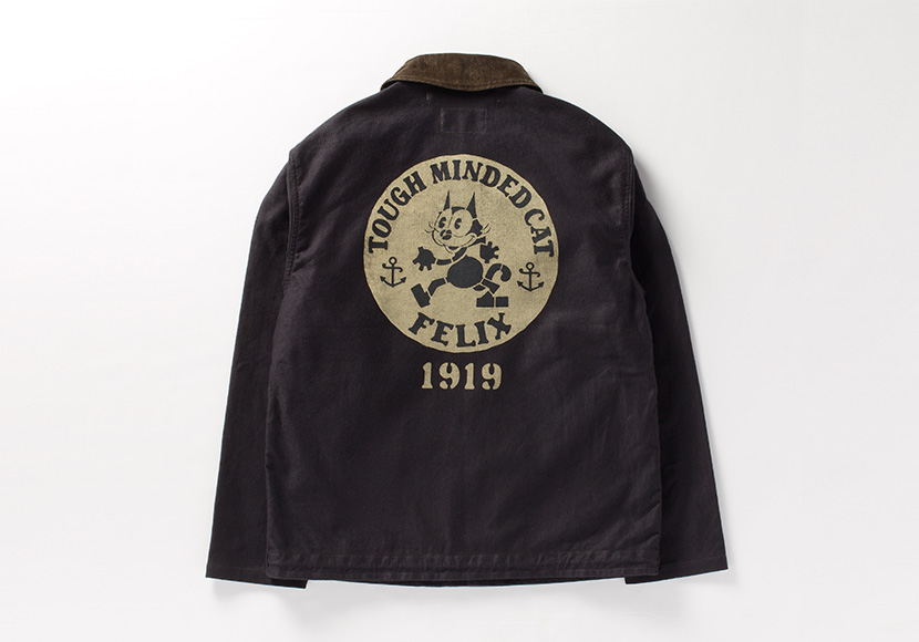 "<span>トイズマッコイ </span>N-1 CIVILIAN JACKET FELIX THE CAT ""TOUGH MINDED CAT"""