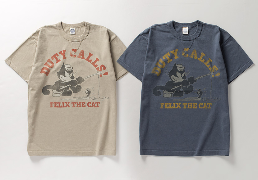 "<span>トイズマッコイ </span>MILITARY TEE SHIRT FELIX THE CAT ""DUTY CALLS! """